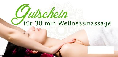 Ein Gutschein für eine Massage